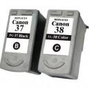 Tusze do Canon PIXMA MX300 MX310 MP140 MP190 MP210 MP220 iP1800 iP1900 iP2500 iP2600 zamienniki Canon PG-37 CL-38 XLL